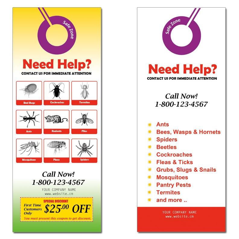 Door Hanger Design Template Door Hanger Marketing New Designs Are