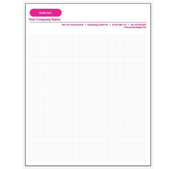 [Image: Personalized Graph Paper Pads - 4 x 4 Squares per Inch Pad]