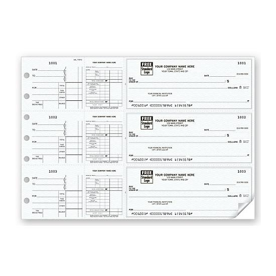 [Image: 3-On-A-Page Payroll & Disbursement Check Side-Tear Vouchers 53226N]