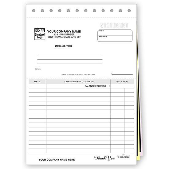 [Image: Account Statement Lined - Custom Printed]