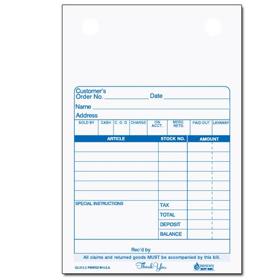 "[Image: Gift & Jewelry Bill - Register Form, Carbonless, Personalized, 4"" x 6"", 2-Part, 3-Part, Pre Printed]"