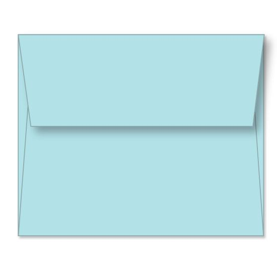[Image: Powder Blue Linen Announcement Envelope A6 (4 3/4 x 6 1/2) - Custom Printed]