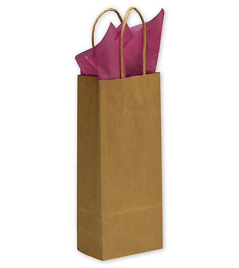 [Image: Kraft Paper Shoppers Wine Bags ]