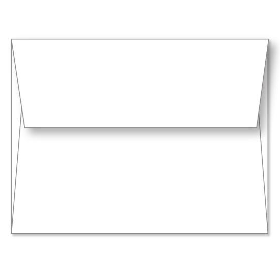 [Image: White Linen Announcement Envelope A2 (4 3/8 x 5 3/4) - Custom Printed]