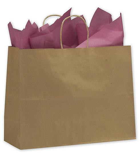 [Image: Kraft Paper Shoppers Vogue Bags]