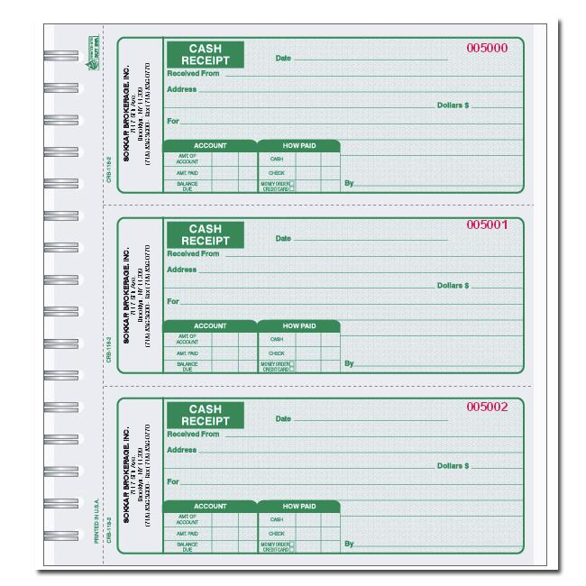 [Image: Green Receipt Book]