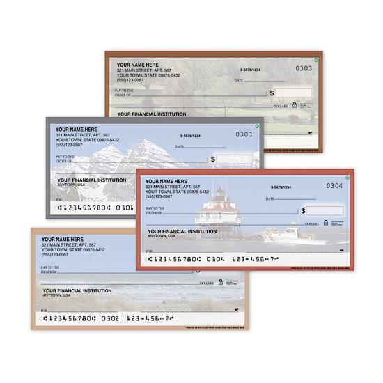 [Image: Personal Check American Theme - Checks Personalized & Printed with Your Checking Account]