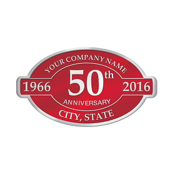 [Image: 50th Anniversary Business Stickers]