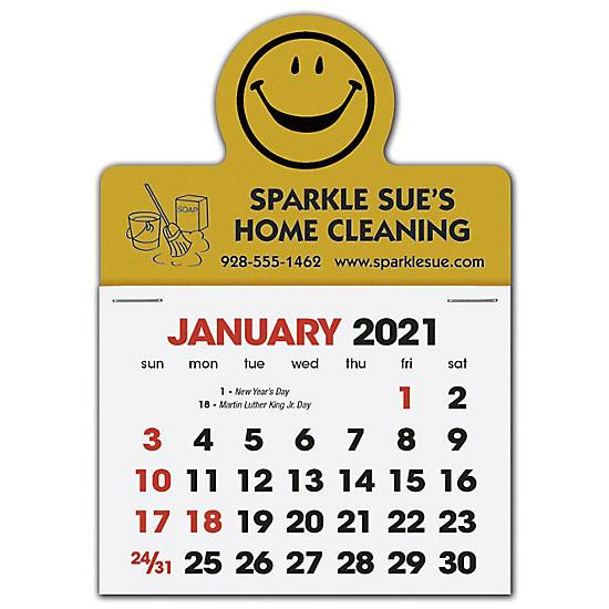 [Image: 2021 Stick Up Calendar Smiley Face, Personalized and Custom Printed]