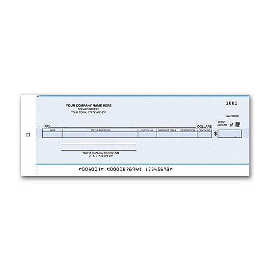 [Image: Accounts Payable Center Check, One write Check]