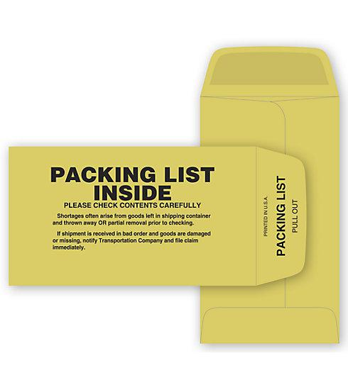 [Image: Packing List Envelope Manila]
