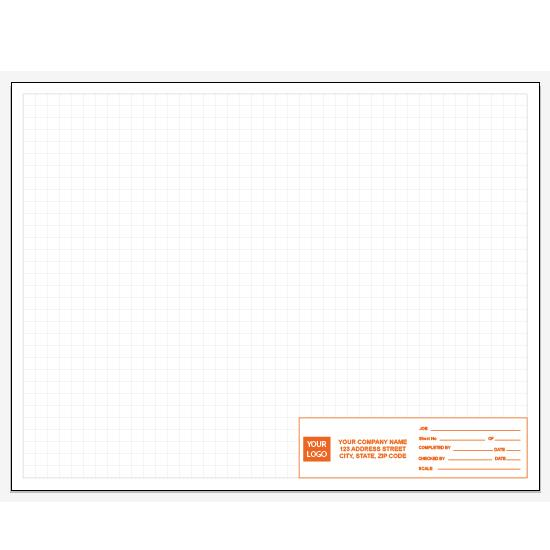 "[Image: Custom Printed Graph Paper - Personalized, 50 Sheets Per Pad, 1/4"", 8 1/2 x 11""]"