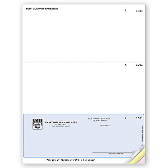 [Image: Business Check - Personalized Logo, Pre Printed, Laser, One Bottom Check, Accounts Payable]