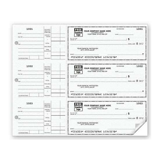 [Image: 3-On-A-Page Compact Size Checks, With Side-Tear Vouchers]