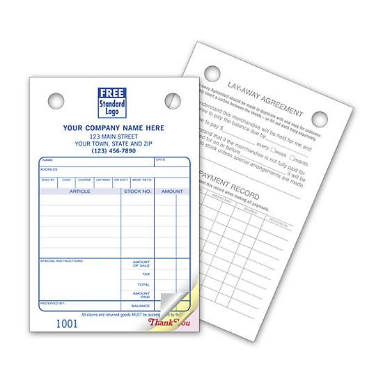 "[Image: Jewelry Invoice Register Form - Small, Pre Printed, Personalized, 2-Part, 3-Part, Carbonless Copies, 4 x 6""]"