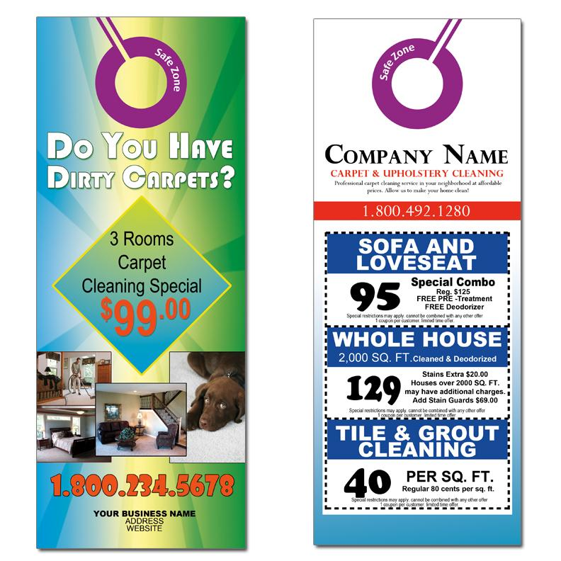 [Image: Carpet Cleaning Door Hangers Advertising]