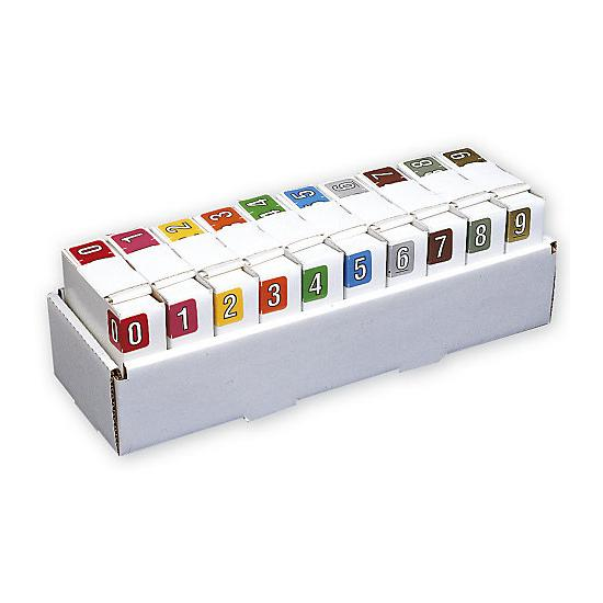 [Image: Sycom & Barkley Numeric Roll Labels Starter Set, 500 Roll - Filing Labels]