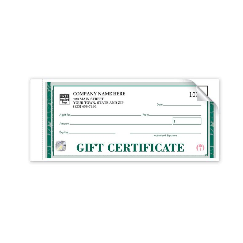 [Image: HS857A, High Security Embassy Gift Certificates - Individual Sets ]