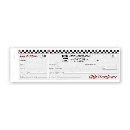 [Image: Cafe Gift Certificates, Booked Sets, Fruit Motif - Custom Printed]