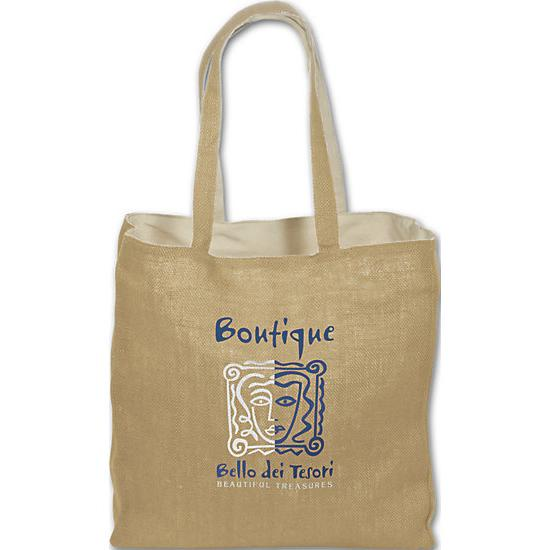 [Image: Jute/Cotton Tote - Custom Printed]