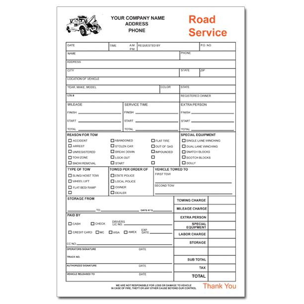 [Image: Towing Service Receipt]