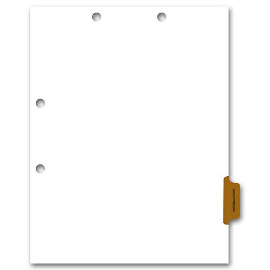 [Image: Side Tab Chart File Divider, Correspondence Tab]