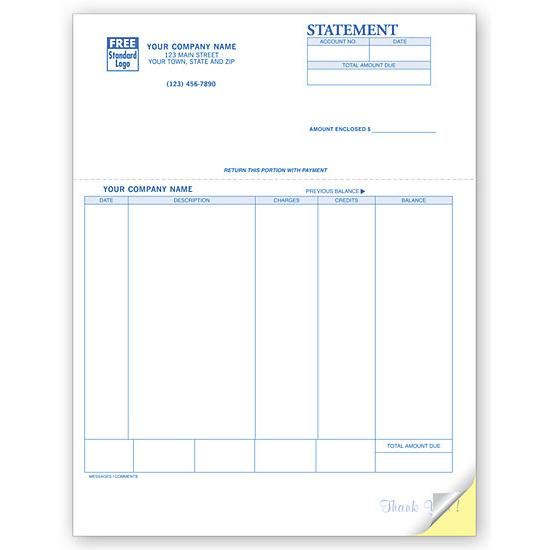 [Image: Account Invoice Statement,  Laser and Inkjet Compatible, Custom Printed]