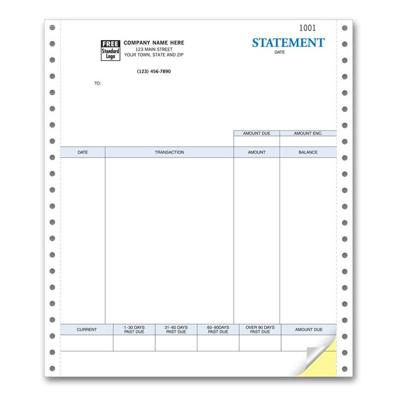 Printable Statement Form Continuous Computer Forms Designsnprint