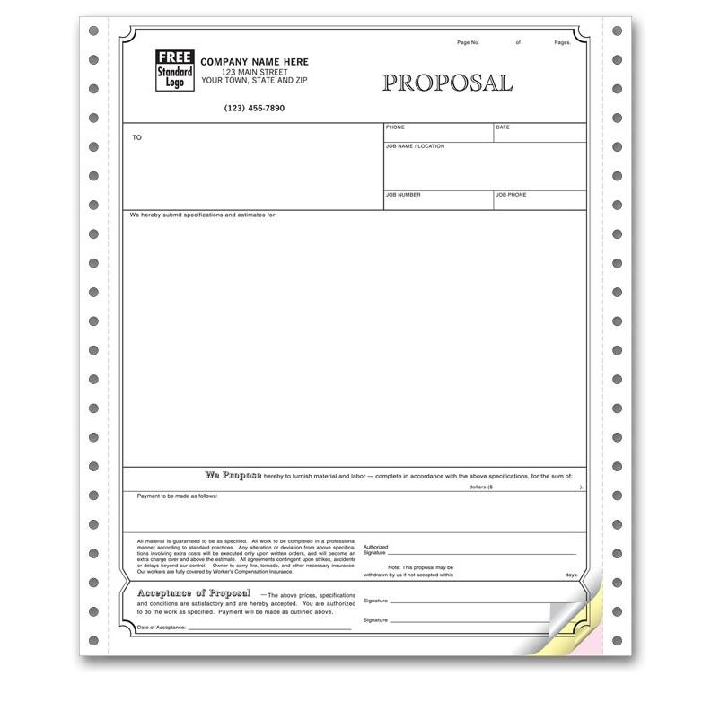 [Image: Continuous Proposal Invoice Form 9250]