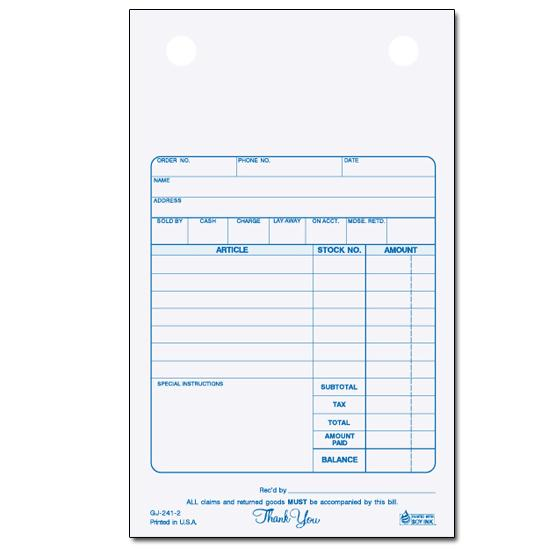 "[Image: Jewelry Receipt - Register Form, Carbonless Copies, 4"" x 6 1/2"", 2-Part, 3-Part, Personalized, Pre Printed]"