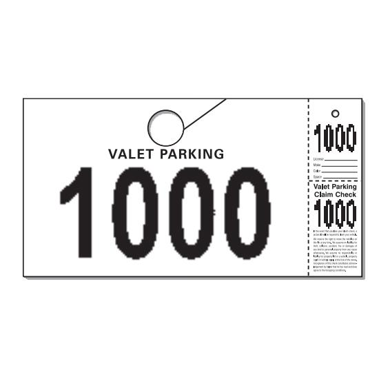 [Image: Valet Parking Tag]
