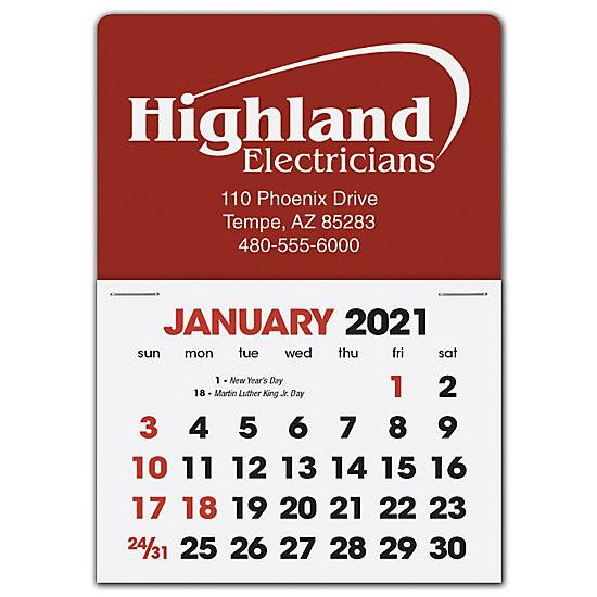 [Image: 2021 Stick Up Calendar Rectangle, Personalized & Custom printed]