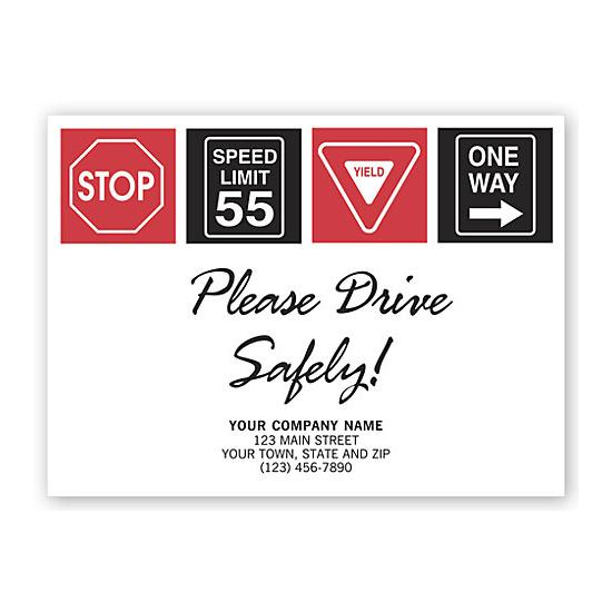 [Image: Drive Safely With Signs Floor Mat]