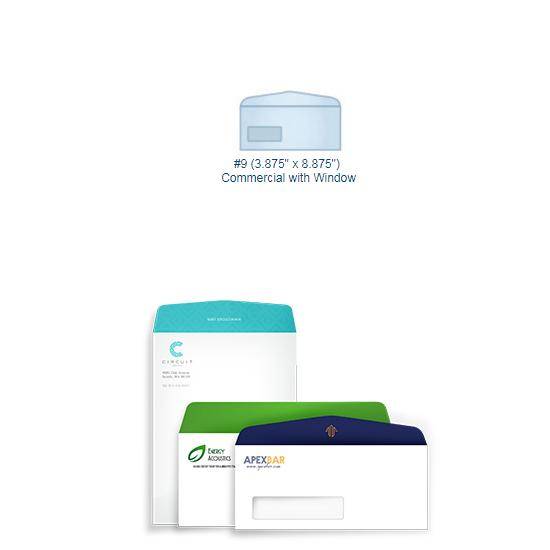 [Image: Full Color #9 Commercial Envelope with Window - Custom Printed]