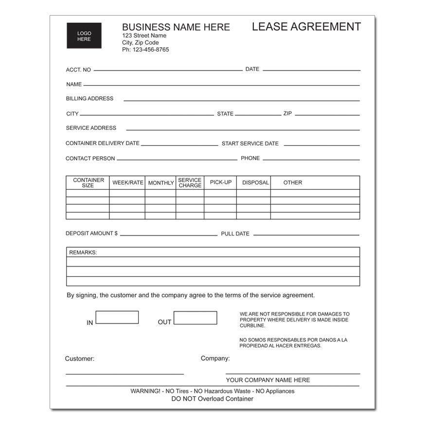 [Image: Equipment Lease Agreement Form]