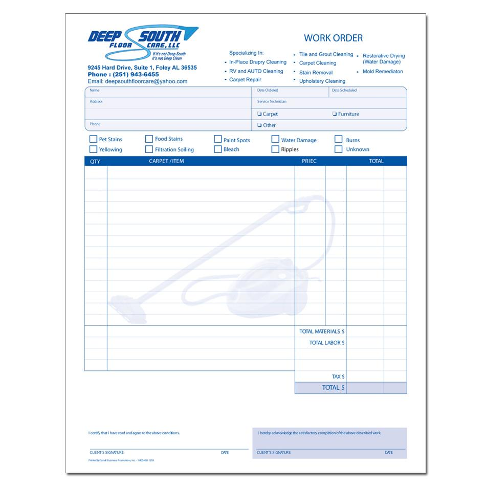 Cleaning And Janitorial Invoice Forms DesignsnPrint - Cleaning service invoice template