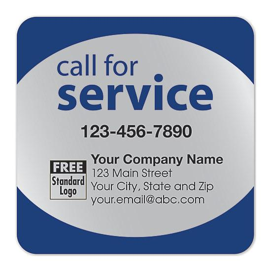"[Image: Service Reminder Stickers - Repair & Maintenance, Equipment Services, Personalized, 3"" x 3"", Personalized, Poly Stock]"