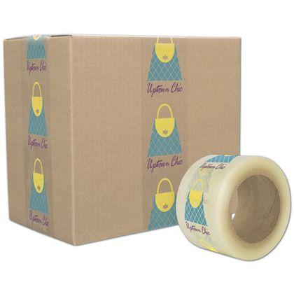 [Image: Custom-Printed Tape, Clear, 3 Colors, Extra Large]