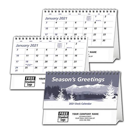 [Image: 2021 Econo Desk Calendar, Custom Printed, Personalized]