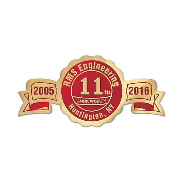 [Image: Business Anniversary Sticker, Ribbon Seal Shape]