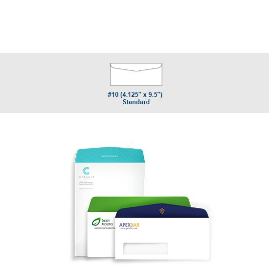 [Image: Full Color #10 Standard Envelope - Custom Printed with Return Address]