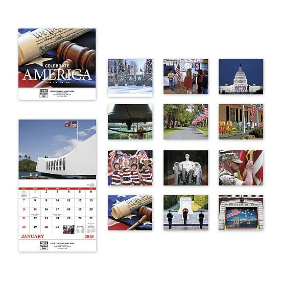 [Image: 2021 Celebrate America Wall Calendar, Custom Printed, Personalized]