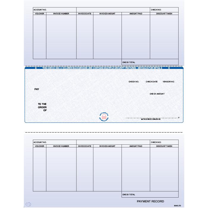 [Image: F8045LTD - Laser Accounts Payable Check]