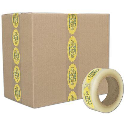 [Image: Custom-Printed Tape, Clear, 2 Colors, Small]