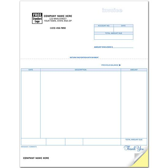 [Image: Billing Invoice form, Laser and Inkjet Compatible, Custom Printed]