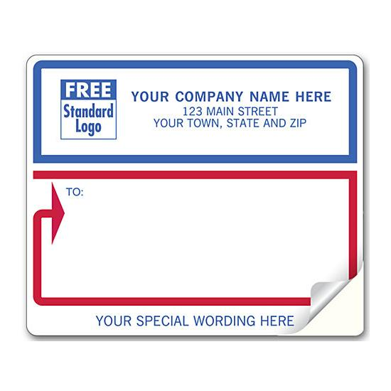 [Image: Mailing Labels For Laser or Inkjet Printer, White With Blue-Red Border]