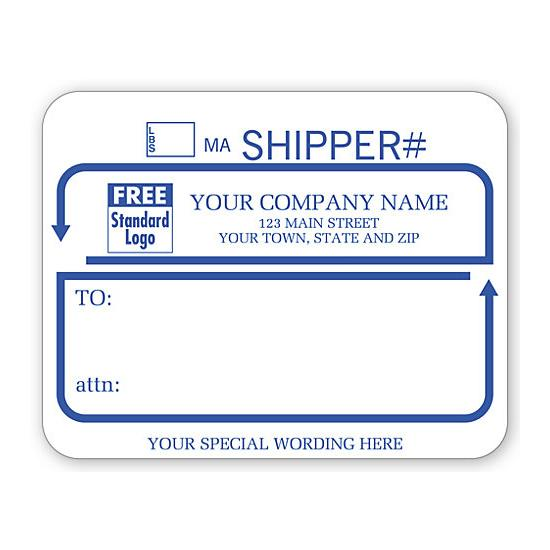 [Image: Jumbo Shipping Labels With UPS, Padded, White With Blue]
