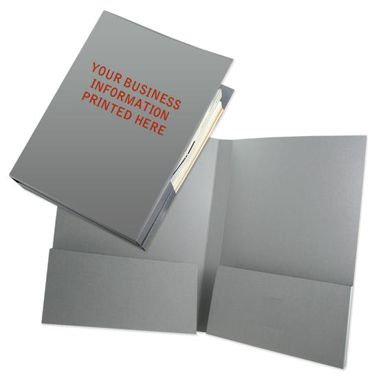 "[Image: Box Pocket Tax Folder with 1/2"" Capacity - Custom Printed]"