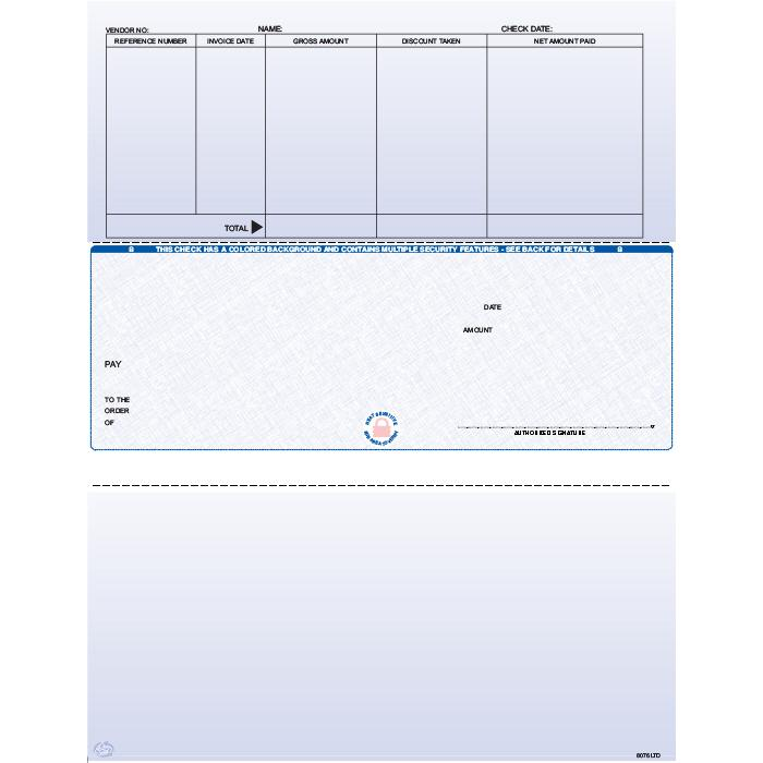 [Image: F8076LTD - Laser Accounts Payable Check]