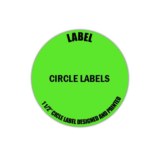 "[Image: 1 1/2"" Circle Label - Personalized & Custom Printed]"